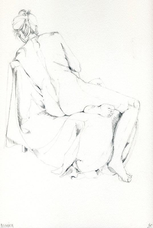 Monica 25 x 31cms, Lynda Bird Clark