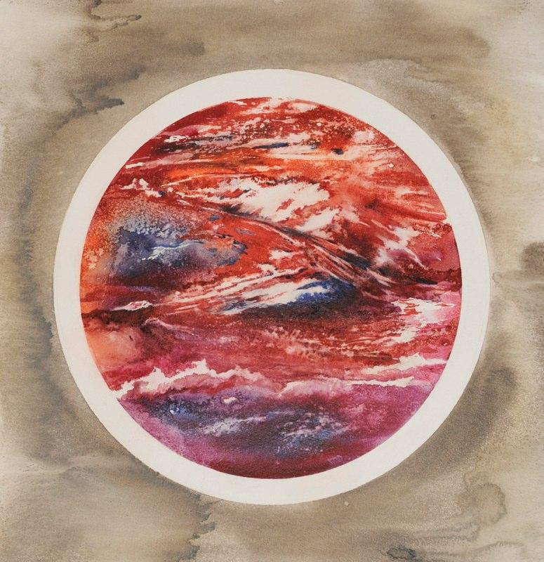 Dead Sea 43.5 x 44.5cms, Lynda Bird Clark