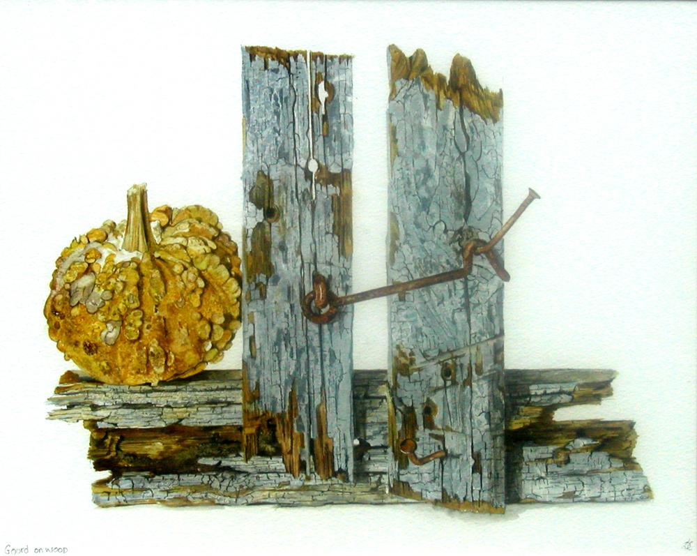 Gourd on Wood, Lynda Clark, Artist