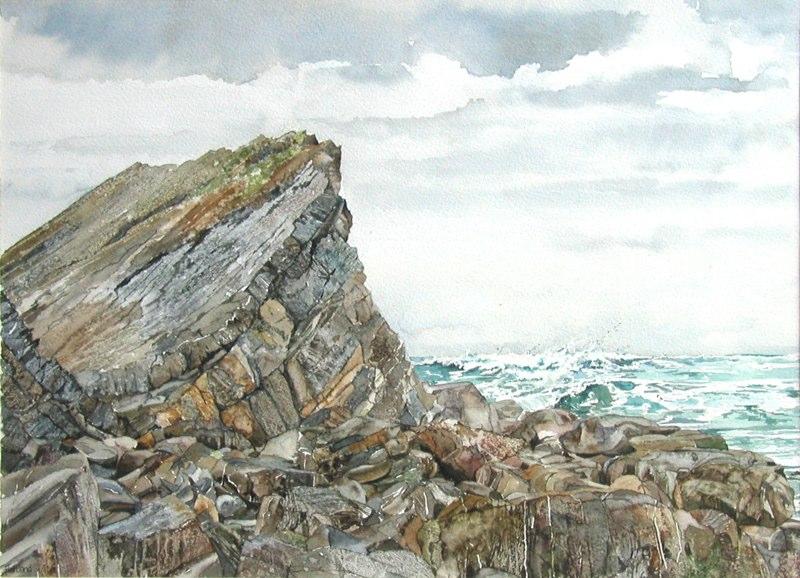 Hartland 41 x 30cms, Lynda Clark, Artist