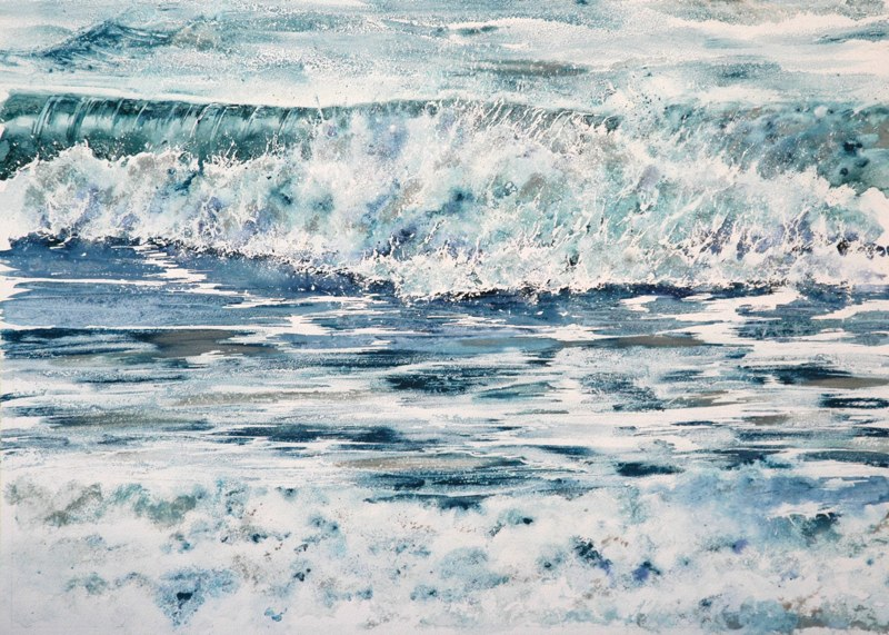 Oil on Water 72 x 51cms, Lynda Bird Clark