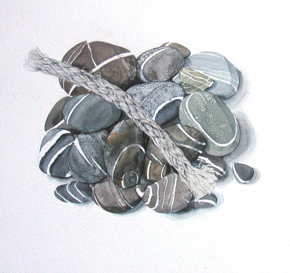 Pebbles & Rope, Lynda Clark, Artist