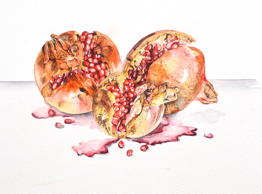 Pomegranate 1, Lynda Bird Clark