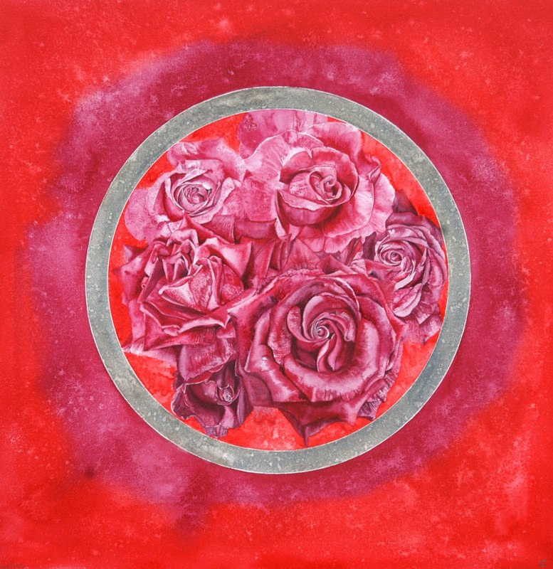 Red Roses 50 x 51cms, Lynda Bird Clark