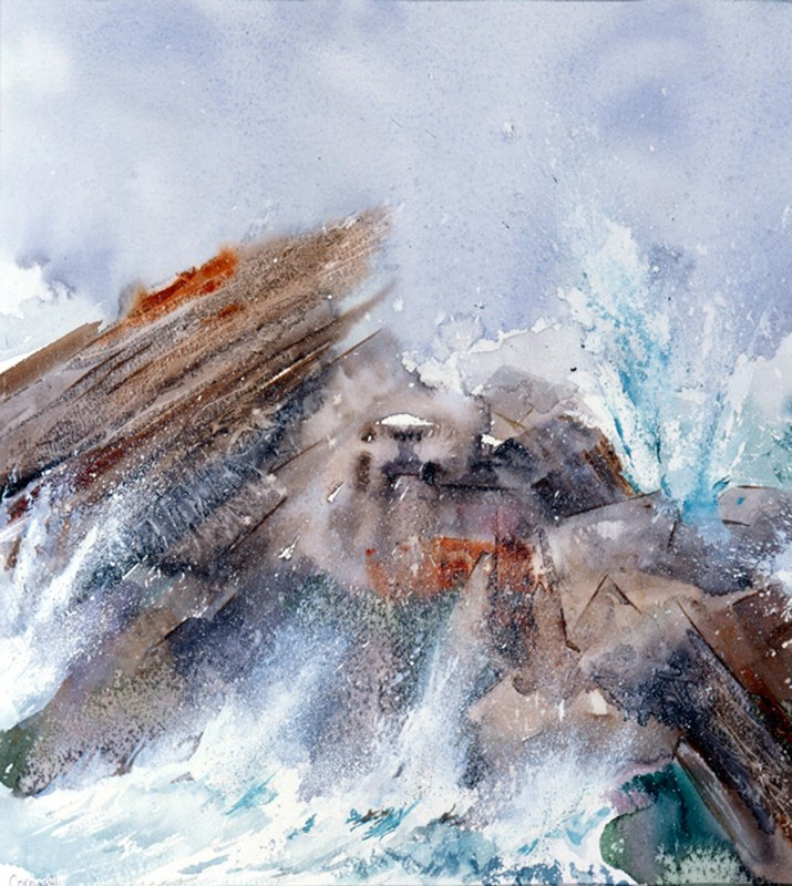 Rough Sea 47.5 x 37.5cms, Lynda Bird Clark