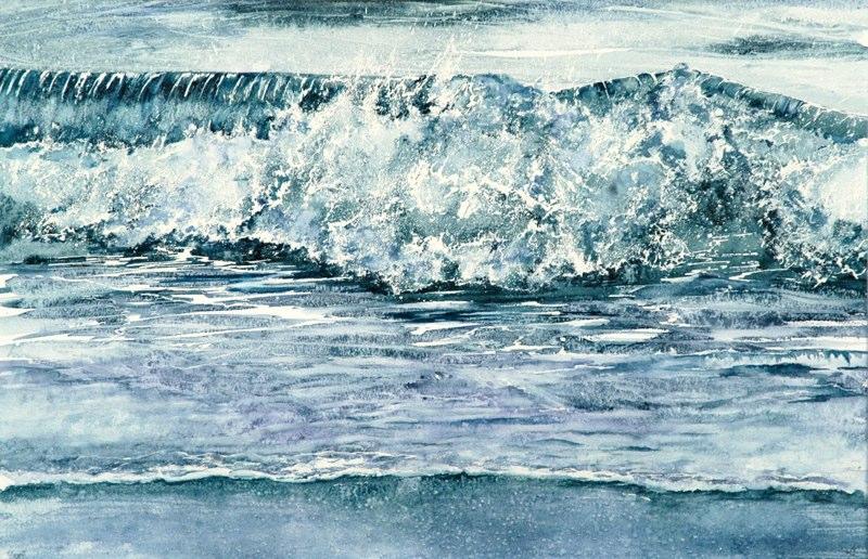 Surf 53.5 x 34.5cms, Lynda Bird Clark