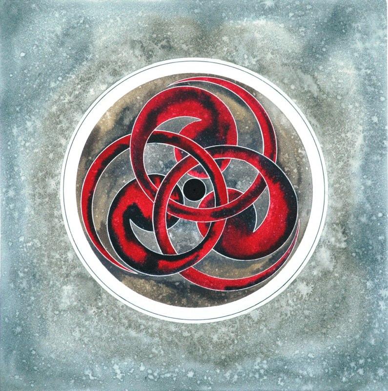 Circles 41.5 x 42.5cms, Lynda Bird Clark