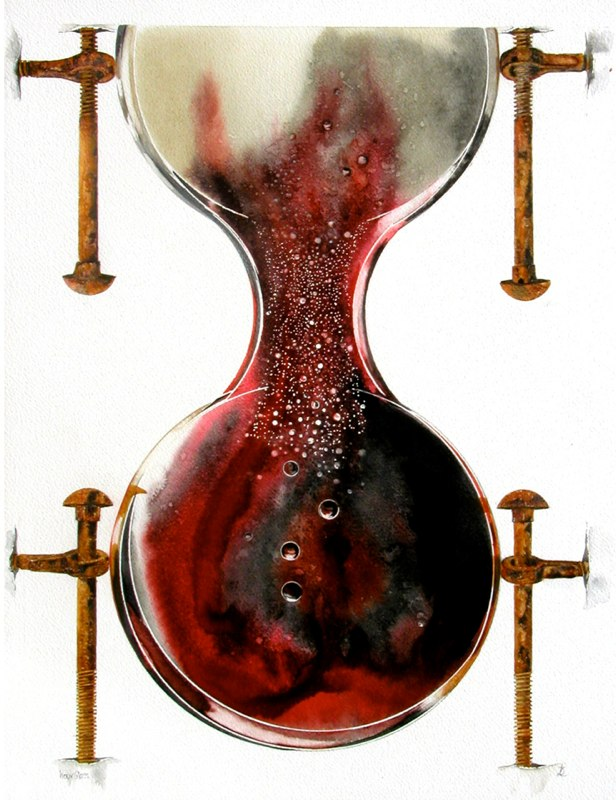 Hourglass 1, 33.5 x 49cms, Lynda Bird Clark