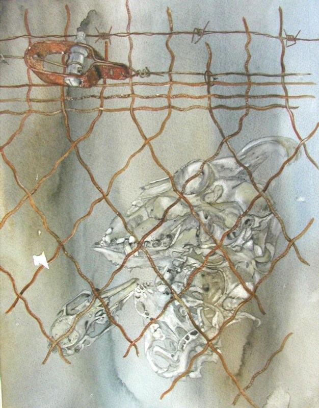 Unjustice 2, 33 x 39cms, Lynda Bird Clark