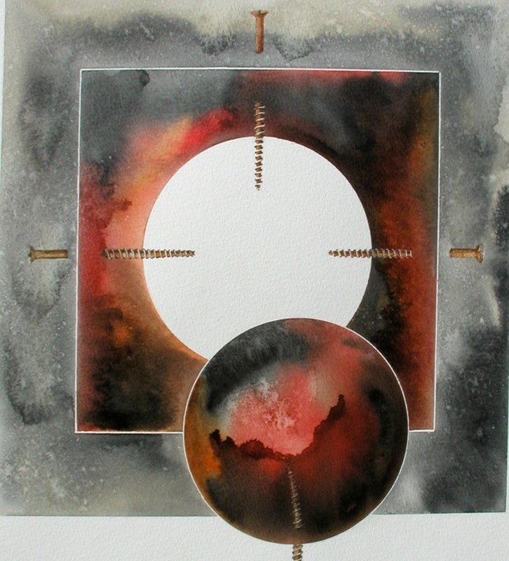 Screwed 2, 37 x 39cms, Lynda Bird Clark
